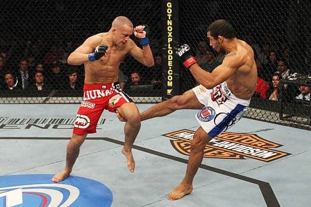 jose aldo low kick mma