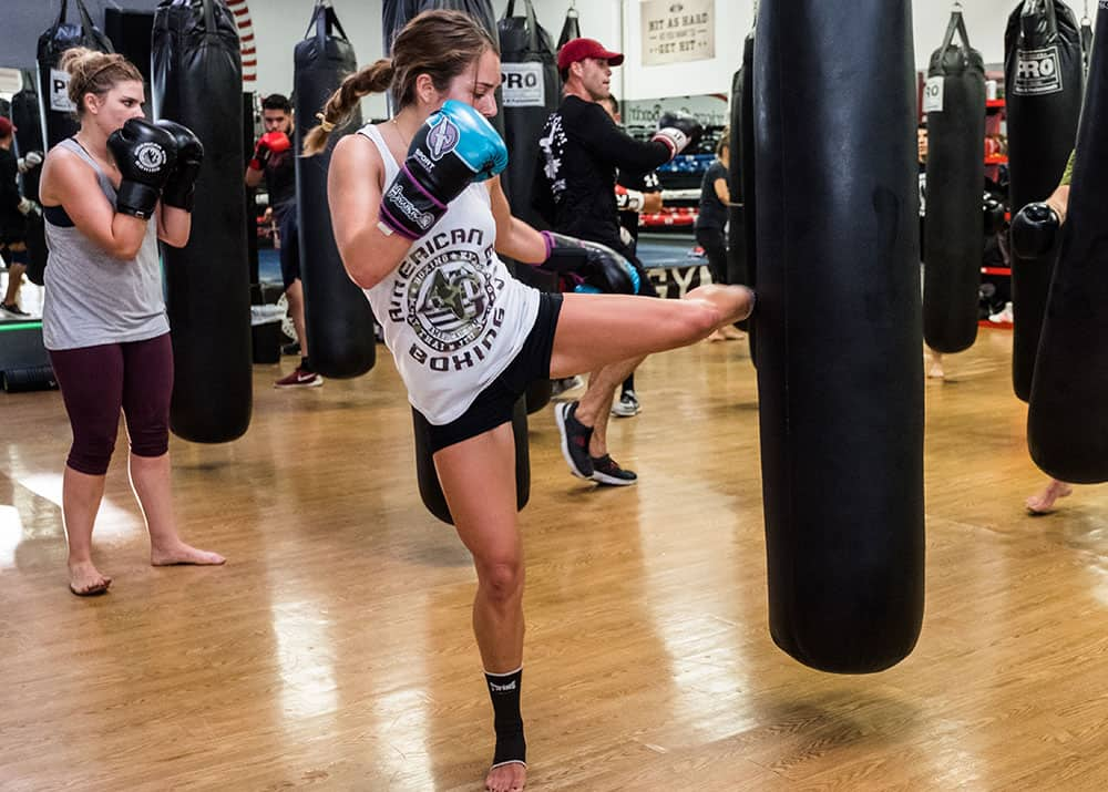 cardio kickboxing for self defense