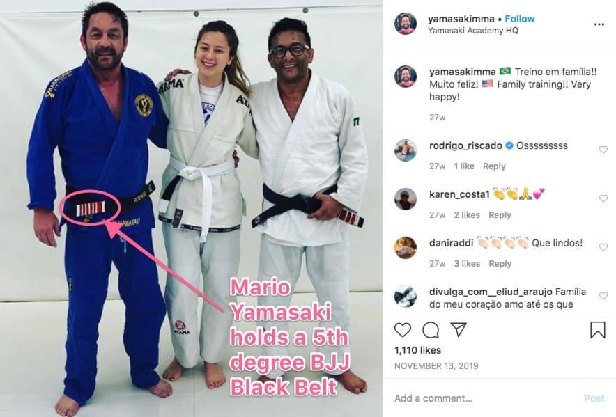 Mario Yamasaki BJJ Black Belt